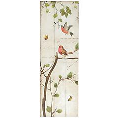 Canvas con aplicaciones de oleo Pájaro sobre Arbol 1 30x90 cm