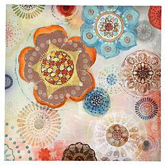 Canvas con aplicaciones de Gel Vintage 1 80x80 cm