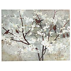 Canvas con aplicaciones de Gel Pájaros 90x120 cm