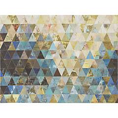 Canvas con aplicaciones Triángulos 90x120 cm
