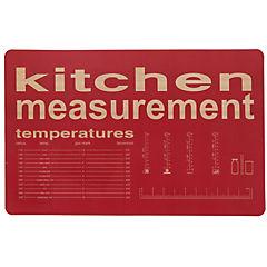 Individual PVC 43x28 cm Kitchen rojo