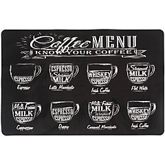 Individual PVC 43x28 cm Coffee negro