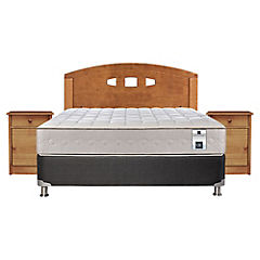 Box Spring 2 Plazas Base Normal + Muebles Gales