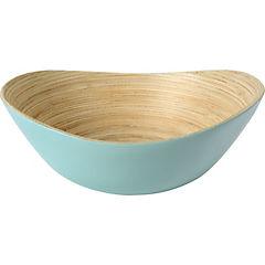 Bowl ovalado 24x21x9 cm bambú aqua