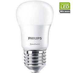 Ampolleta LED bulbo 5,5W-50W Switch dimmer luz cálida E27