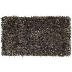 Bajada de cama shaggy Conrad negro 50x110 cm
