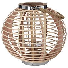 Farol bambú asa cuerda 32x28,5 cm