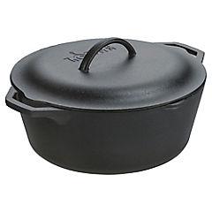 Olla hierro fundido 32,54 cm 6,62 litros negro
