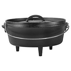 Olla para camping hierro fundido 25,4 cm 3,79 litros negro