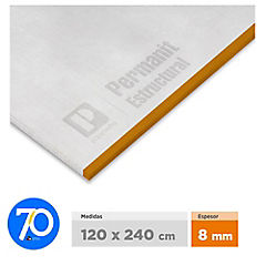 8 mm 120 x240 cm Planchas permanit superboard