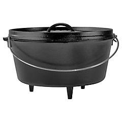 Olla para camping hierro fundido 30,48 cm 7,57 litros negro