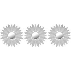 Set de espejos 27x76 cm 3 unidades silver