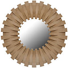Espejo circular 50x50 cm café