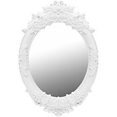 Espejo ovalado Antique blanco 62x43 cm