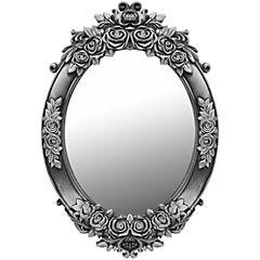Espejo ovalado 62x42 cm silver