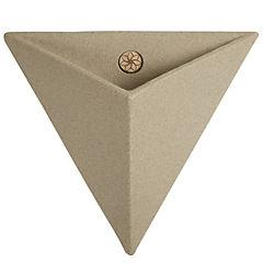 Macetero triangular de plástico 46 cm Beige