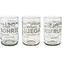 Pack de 4 vasos Happy