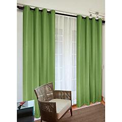 Cortina Sofía verde 2 paños 140x220 cm