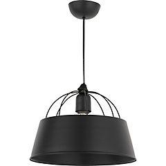 Lámpara colgante negro opaco grande