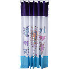 Cortina de baño textil Corazón feliz 180x180 cm