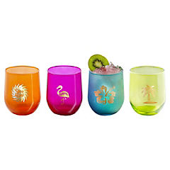Set de vasos vidrio 473 ml 4 unidades