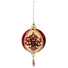 Esfera textil 10 cm dorado