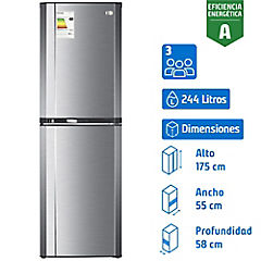 Refrigerador frío directo bottom freezer Progress 3100 plus 244L
