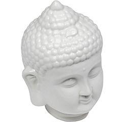 Figura cerámica buda blanco