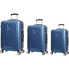 Set 3 maletas azul metalizado