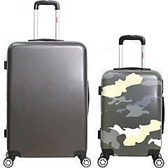 Set 2 maletas gris + camuflado