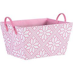 Caja flores rosa 37x27x20 cm