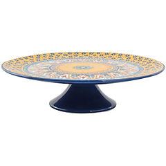Plato 30,5 cm azul amarillo