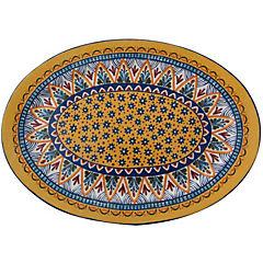 Plato ovalado 40 cm azul amarillo