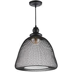 Lámpara colgante Elvas 1 luz negro