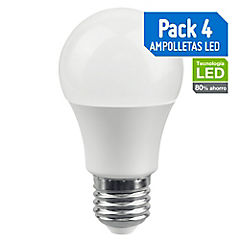 Pack de ampolletas LED E-27 40 W Fría 4 unidades