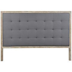 Respaldo para cama 120x170x7 cm gris