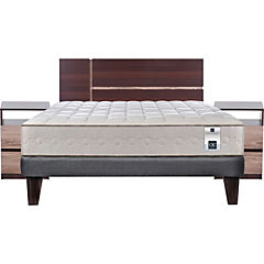 Cama Europea 2 Plazas Base Normal + Muebles Enio