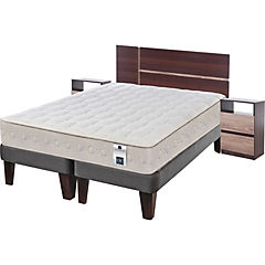 Cama Europea King Base Dividida + Muebles Enio