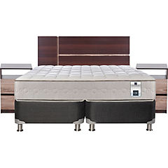 Box Spring 2 Plazas Base Dividida + Muebles Enio