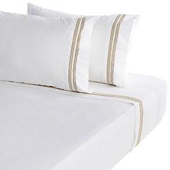 Juego de sábanas Jersey beige 230 hilos 2 plazas