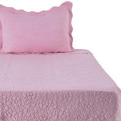 Quilt 1,5 plazas rosado