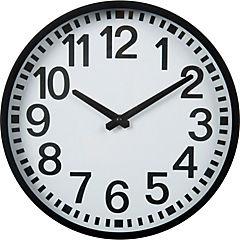 Reloj de pared borde negro