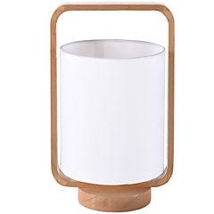 Lámpara de mesa cilindro 1 luz blanco
