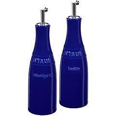 Juego de aceitero y vinagrero 2 piezas Azul