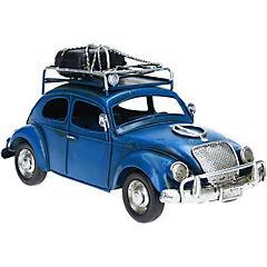 Auto decorativo 12x25 cm metal azul