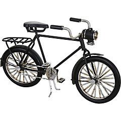 Bicicleta decorativa 7x23 cm metal negro