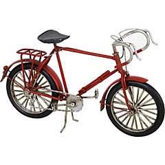 Bicicleta decorativa 7x23 cm metal rojo