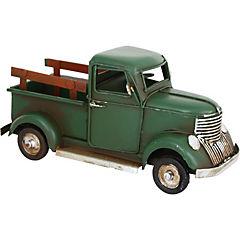 Camioneta decorativa 7x17 cm metal verde