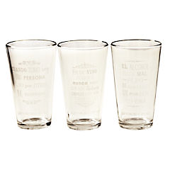 Set de vasos 6 piezas 475 ml Transparente