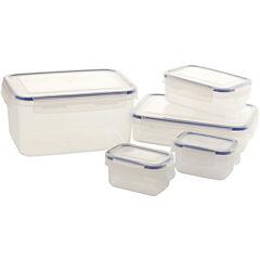 Set de contenedores de alimentos plástico 5 unidades